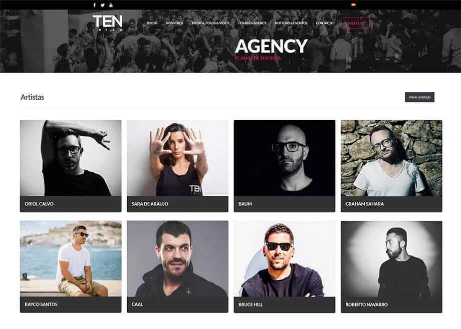 Página web y App para TEN Ibiza