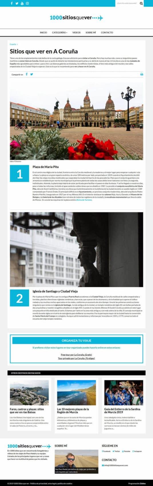 Blog para 1000 Sitios que ver por Paco Nadal