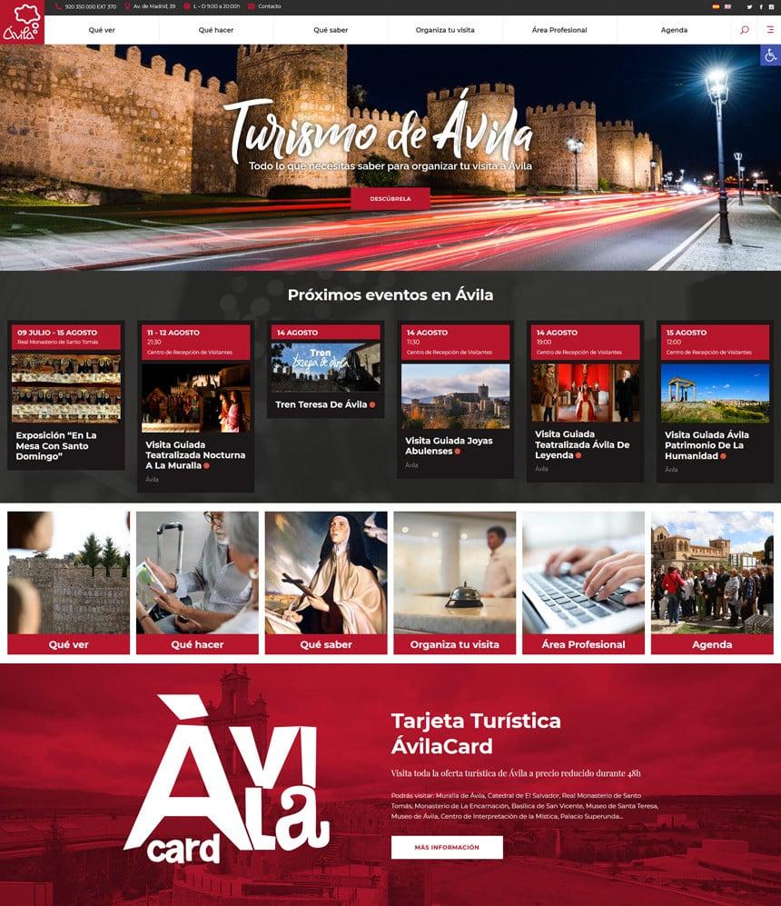 Página web para el área de Turismo de Ávila