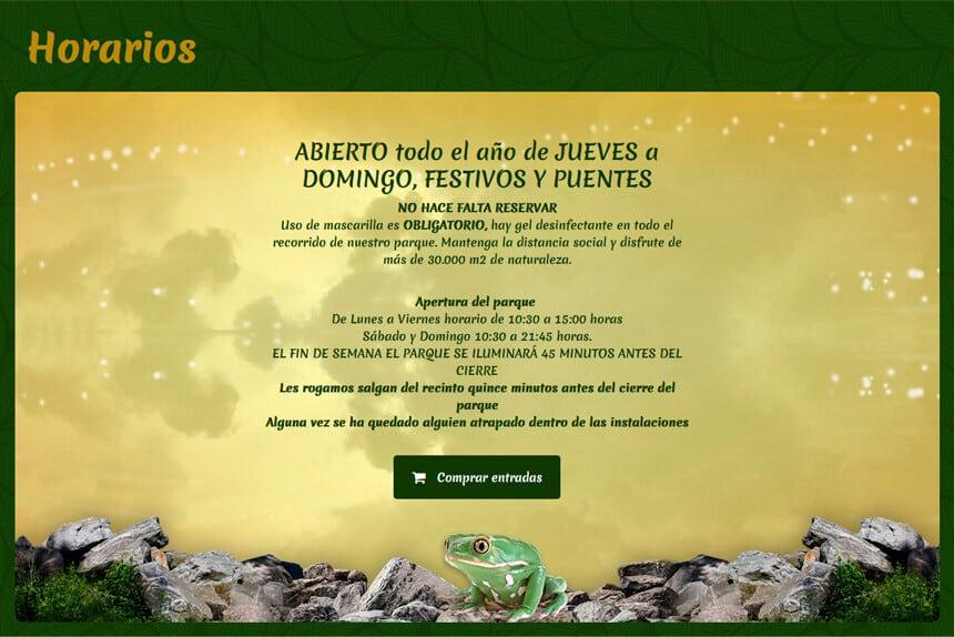 Página web para El Bosque Encantado en San Martín de Valdeiglesias