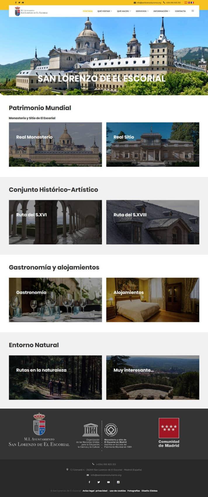 Página web de Turismo San Lorenzo de El Escorial