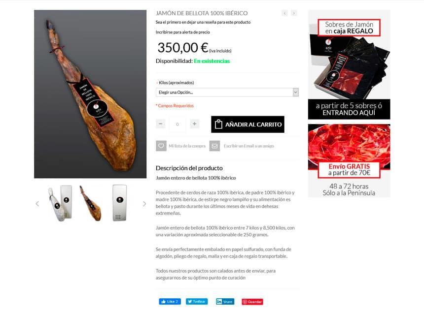 Tienda Online para Arte de Pata Negra