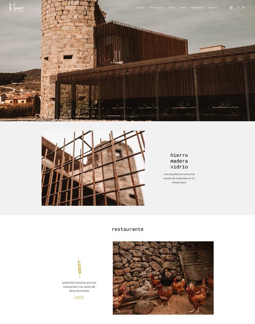 Página web para Torre Mayorazgo en Villatoro, Ávila